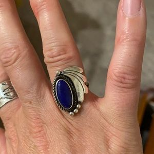 Vintage sterling and lapis 5.75